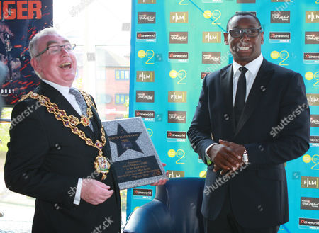 Editorial photo of David Harewood presented with star on the Broad Street Walk of Stars at Cineworld, Birmingham, Britain - 25 Jul 2013