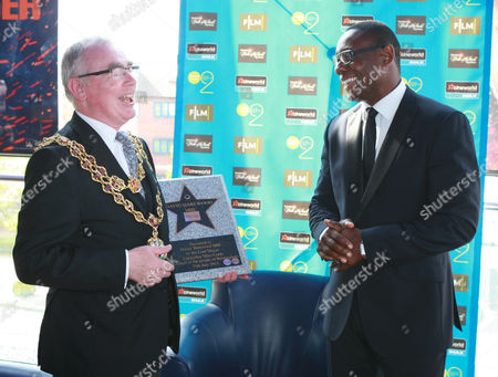 Stock Picture of David Harewood and The Lord Mayor of Birmingham Councillor Mike Leddy
