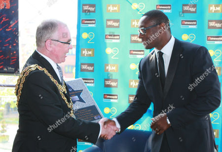 Editorial picture of David Harewood presented with star on the Broad Street Walk of Stars at Cineworld, Birmingham, Britain - 25 Jul 2013