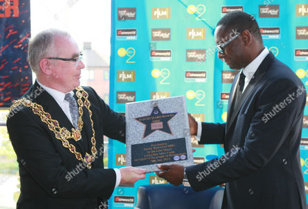 David Harewood and The Lord Mayor of Birmingham Councillor Mike Leddy