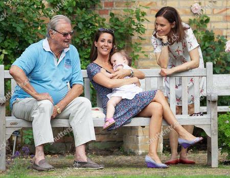 Prince Henrik, Princess Marie, Princess Athena and Carina Axelsson