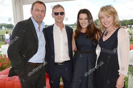Philip Glenister, John Simm, Kate Magowan and Beth Goddard