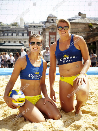 Zara Dampney (left) and her new team-mate, Lucy Boulton (right), hosted the tournament for up-and-coming players picked from tournaments around the country.