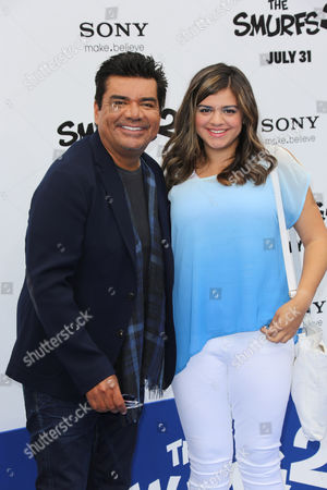 Stock Picture of George Lopez and daughter Mayan Lopez