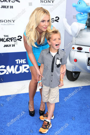 Stock Picture of Britney Spears with her son Sean Preston