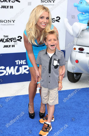 Stock Image of Britney Spears with her son Sean Preston