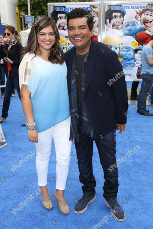 Stock Photo of George Lopez and daughter Mayan Lopez