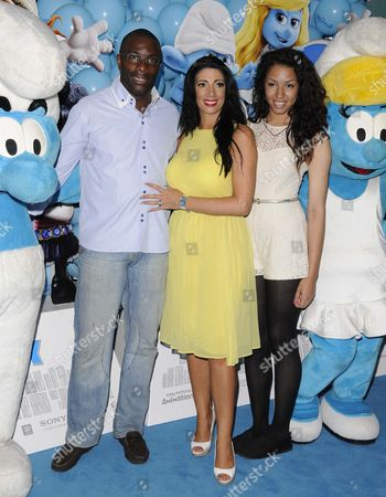 Derek Redmond with wife Maria Yates and daughter Grace Elizabeth Redmond