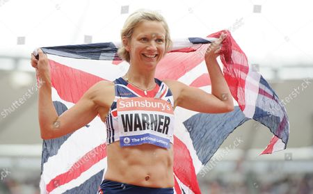 Stock Photo of Sophia Warner of Great Britain after the 100m Women T35 Final