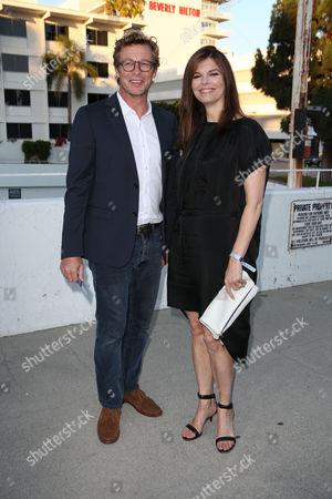 Simon Baker and Jeanne Tripplehorn