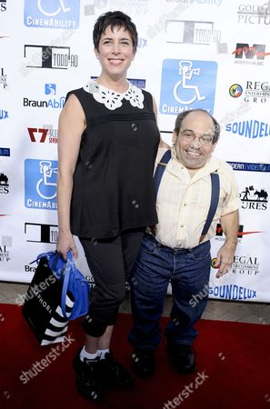 Stock Photo of Danny Woodburn and wife Amy Buchwald