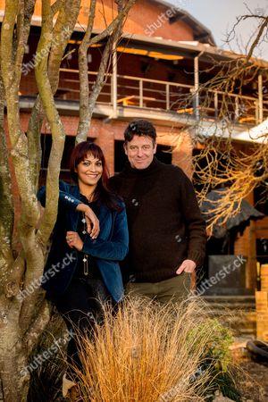 Gus Christie and Danielle De Niese of Glyndebourne Opera House in East Sussex UK.