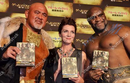 Japanese professional wrestler Keiji Mutoh, Actress Michelle Fairley and mixed martial artist Bob Sapp