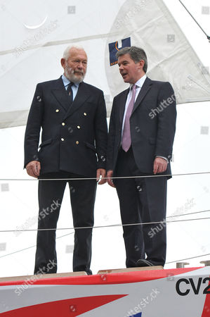 Sir Robin Knox-Johnston, founder and Chairman of Clipper Race and Hugh Robertson MP, Sports Minister