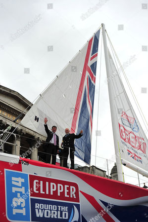 Sir Robin Knox-Johnston, Clipper Race founder and Chairman of Clipper Race and Hugh Robertson MP, Sports Minister