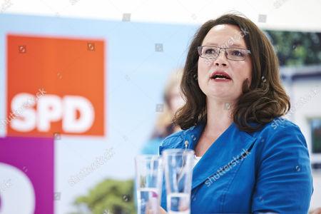 SPD General Secretary Andrea Nahles