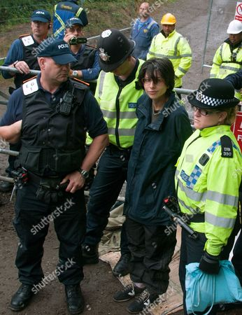 Editorial picture of Anti-fracking protest at the Cuadrilla fracking site in Balcombe, Sussex, Britain - 31 Jul 2013