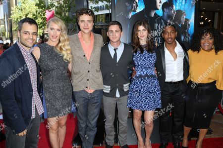 Stock Picture of Thor Freudenthal, Leven Rambin, Jake Able, Logan Lerman, Alexandra Daddario and Brandon T Jackson and Yvette Nicole Brown