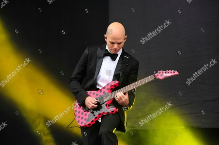 Castle Donington, Britain. Guitarist Josh Rand Of American Hard Rock Group Stone Sour Performing Live On The Main Stage At Download Festival