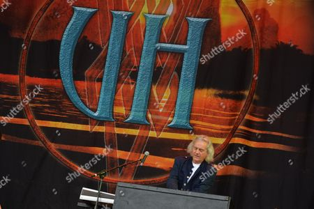 Castle Donington, Britain - Keyboardist Phil Lanzon Of English Rock Group Uriah Heep Performing Live On The Zippo Encore Stage At Download Festival