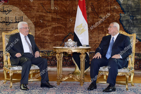 Mahmoud Abbas and Adly Mansour
