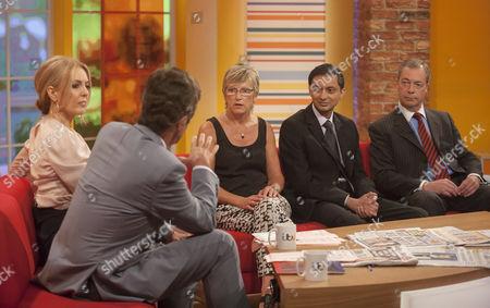 Stock Image of John Stapleton and Helen Fospero with Alison Waldock, Inayat Bunglawala and Nigel Farage.