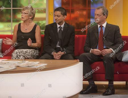 Alison Waldock, Inayat Bunglawala and Nigel Farage.