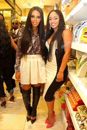 Stock Picture of Angela Simmons and Tahiry