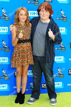 Stock Image of Noah Cyrus and Tucker Albrizzi