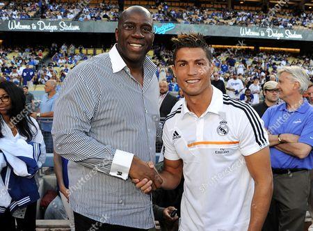 Earvin Magic Johnson and Cristiano Ronaldo