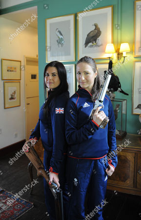 Olympics 2012 Feature Shooting. Bisley Shooting Ground. . Charlotte Kerwood Left And Georgina Geikie.
