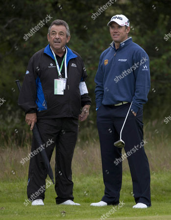 Lee Westwood Talks To Tony Jacklin During Practice At The British Open Championship At Lytham And St Annes.
