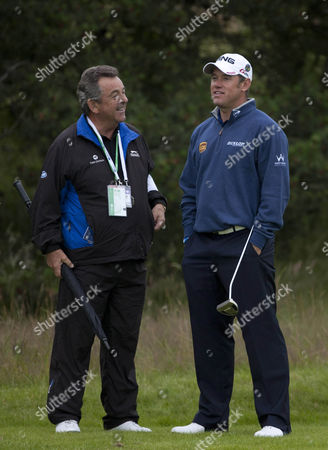 Lee Westwood Talks To Tony Jacklin During Practice At The British Open Golf Championship At Lytham And St Annes.