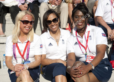Jane Torvill Dame Kelly Holmes And Tessa Sanderson At The Welcome Team Gb To The At The Olympic Village Stratford East London.