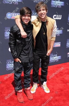 Stock Image of Austin Mahone and Alex Constancio
