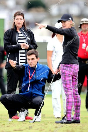 Editorial photo of Judy Murray taking golfing lessons at Ricoh Women's Open Golf Championship, St Andrews, Scotland, Britain  - 01 Aug 2013
