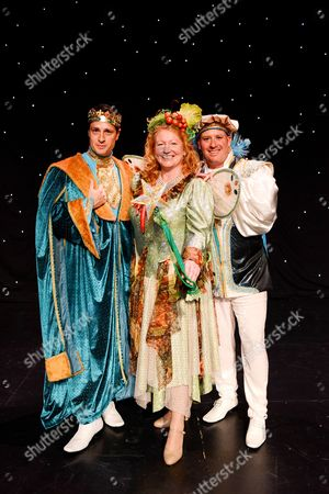 Charlie Dimmock (Fairy Organic), Tom Evans (King) and Jack Hayes (Chamberlain)