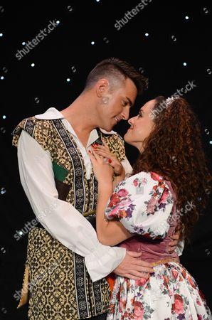 Stock Picture of Allan Jay (Jack Trott) and Janine Pardo (Princess Amelia)