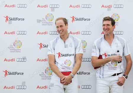 Prince William and Mark Tomlinson after playing