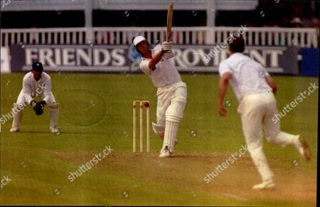 Editorial photo of Cricket:benson & Hedges Cup 1992 - Kent V Surrey - Mark Feltham Bowled By Kent's Martin Mccague.