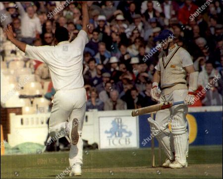 Cricket: Benson & Hedges Cup Semi Final 1991 - Lancashire V Yorkshire - Phil Defreitas Celebrates The Fall Of Martyn Moxon.
