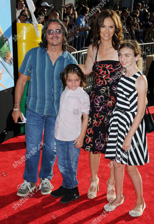 Stock Image of Amy Brenneman, husband Brad Silberling and children Charlotte Tucker Silberling, Bodhi Russell Silberling