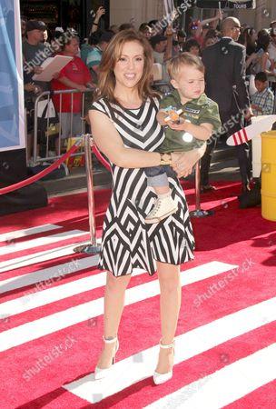 Alyssa Milano and son Milo Thomas