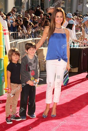 Brooke Burke Charvet with son Shaya Braven Charvet and a friend