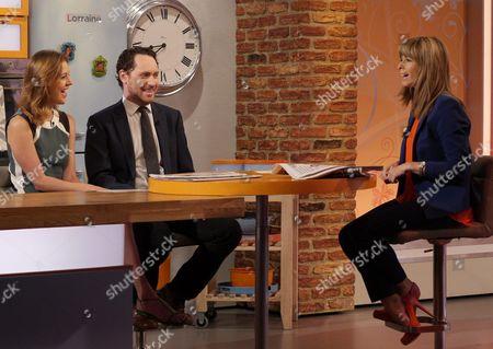 Carla Buzasi and Hugo Rifkind with Kate Garraway