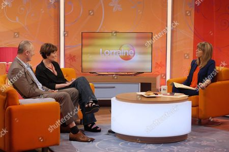 Aden Gillett and Catherine Russell with Kate Garraway