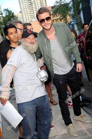 Liam Hemsworth with Radioman (aka Radio Man, aka Craig Castaldo)