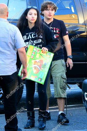 Editorial photo of Prince Michael Jackson and Remi Alfalah out and about, Los Angeles, America - 05 Aug 2013