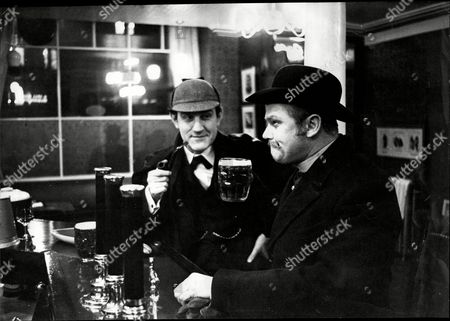 Stock Image of Douglas Wilder And Nigel Stock In The Television Programme Sherlock Holmes.