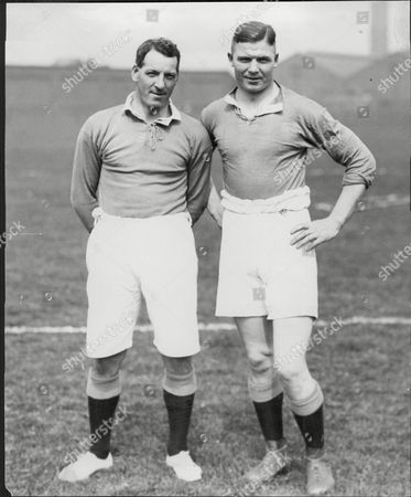 Liverpool Footballer Donald Mckinlay (left) And Wigan Rugby League Player Jim Sullivan Before Baseball Match.